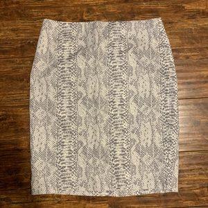 Ann Taylor Snakeskin Print Skirt